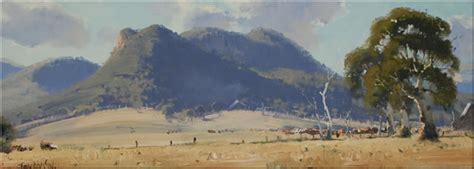 john wilson australian landscape oil paintings blue