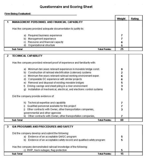 contractor safety performance evaluation form obstacles with understanding best value practices