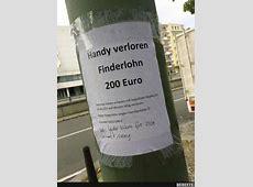 Handy verloren, Finderlohn 200 Euro Lustige Bilder