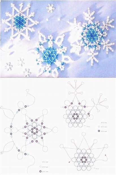 Snowflake Beading Pattern Snowflakes Paper Seed Garland
