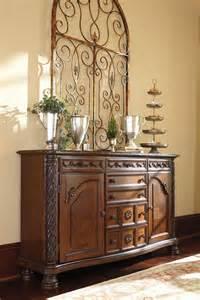 north shore  pedestal dining room set  ashley