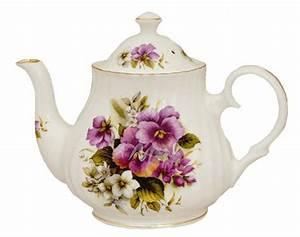 Purple Pansy 6 Cup Bone China Tea Pot Made In England   eBay