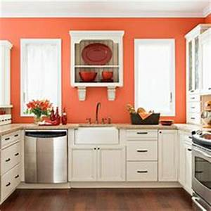 Burntorangekitchenideas burnt orange kitchen with new for Best brand of paint for kitchen cabinets with texas longhorn wall art