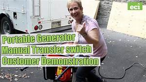 Portable Generator  U0026 Manual Transfer Switch