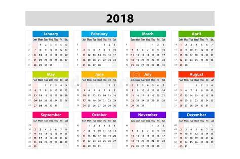 Calendrier De Bureau Pendant 2018 Années Calibre D
