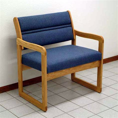 dakota wave sled base bariatric chair from wooden mallet