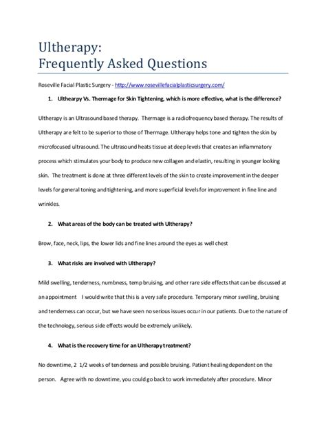 Frequently Asked Questions About The Gnu Frequently Asked Questions Ultherapy