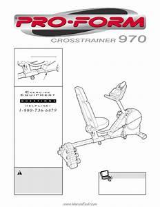 Proform Crosstrainer 970 Bike