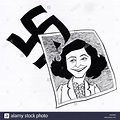 Anne Frank, caricature. Jewish schoolgirl who wrote 'The ...
