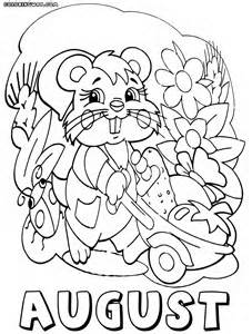 August Printable Coloring Pages