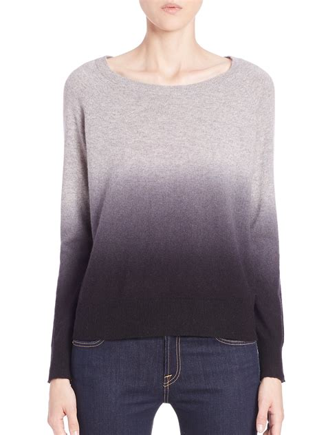 ombre sweater 360cashmere skull ombré sweater in gray lyst