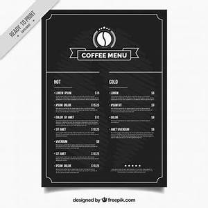 menu vectors photos and psd files free download With coffee price list template