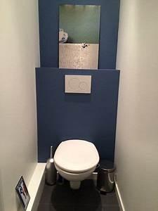 Nouvelle annee nouvelles toilettes repeintes en bleu c for Idee couleur peinture toilette 15 deco toilettes bleu