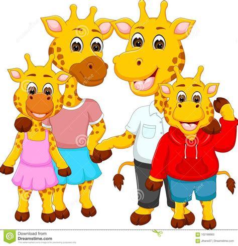 happy giraffe cartoon vector illustration cartoondealer