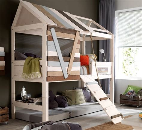 High Bedrooms by Marvelous Small Cabin Beds High Treehouse Bed Wooden
