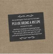 Please Bring A Recipe Instead Of A Card Insert For Bridal Shower Invitations 1000 Images About Kitchen Bridal Shower On Pinterest Kitchen Shower Recip Recipe Card Bridal Shower Recipe Card Flowers By ArtByHeartPrints Raspberry Kitchen Shower Invitation Recipe Card Deep Pink Party