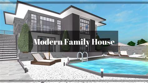 Roblox  Bloxburg Modern Family House (91k) Youtube