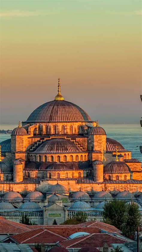 wallpaper sultan ahmed mosque turkey istanbul sunrise