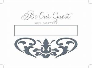 Printable Wifi Password Sign - How To Decorate