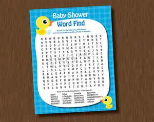 Baby Shower Word Search Printable