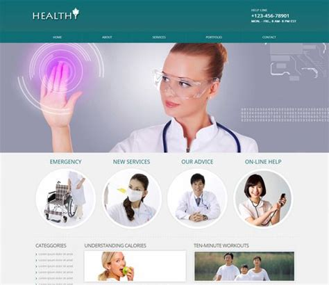 hospital doctor bootstrap website template