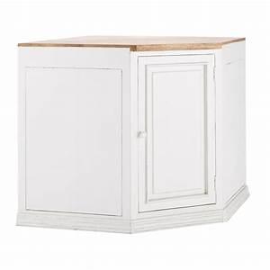 Meuble Bas D Angle Cuisine : meuble bas d 39 angle de cuisine ouverture droite en manguier blanc l 133 cm eleonore maisons du ~ Teatrodelosmanantiales.com Idées de Décoration