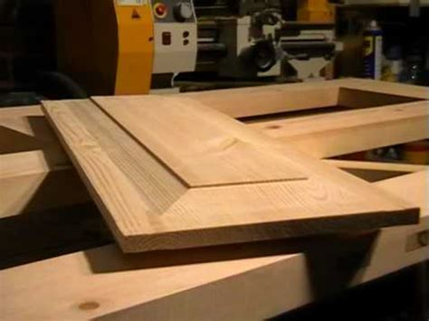 how to build raised panel cabinet doors diy 4 panel wooden door part 4 raised panel cutting with