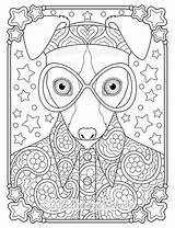 Coloring Hippie Whippet Thaneeya Groovy Animal Animals Mcardle Printable Dog Adult Colouring Template Drawings Vibes Coloringbase Trippy Adults Middle Peace sketch template