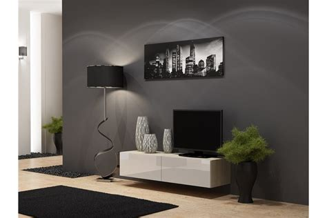 cuisine gris taupe meuble tv design suspendu vito 140cm design