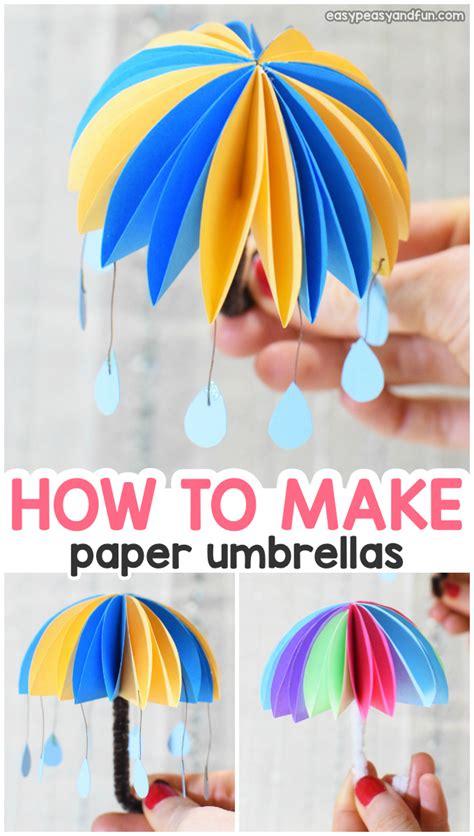paper umbrellas easy peasy  fun