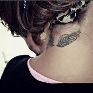 angel wing neck tattoo I want | Tattoos | Pinterest ...
