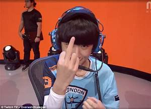 Profit Middle Finger Gesture Caught On Camera During OWL