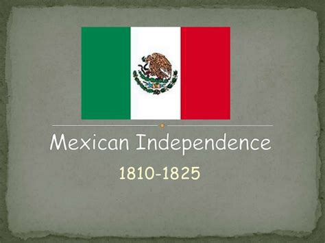 Mexican independence from spain revised
