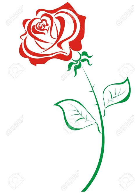 Roses Clip Outline Clipart