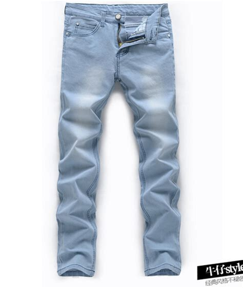 light jeans mens jeans men 2015 new mens light blue jeans men thin straight