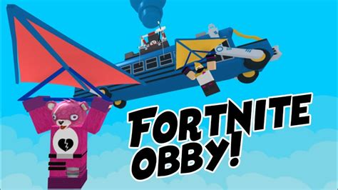playing   fortnite obby  roblox youtube