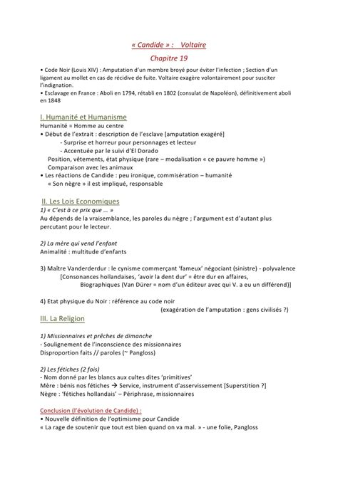 Candide Voltaire Resume Chapitre 1 by Candide Chapitre 19