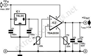 Adjustable Voltage Regulator Circuit