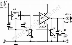 Adjustable 3 Ampere Regulator Circuit Diagram