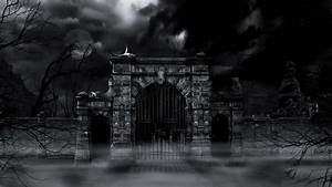 Scary Cemetery Gate (loop). Stock Footage Video 4765295 ...