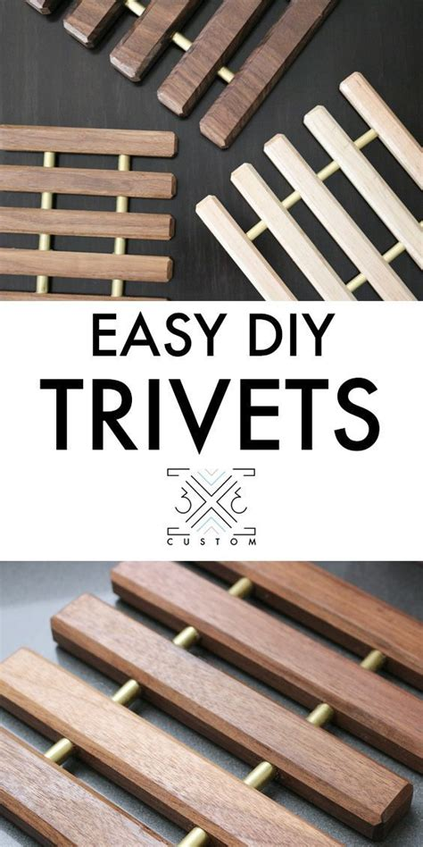 scrap wood trivets woodworking projects diy wood