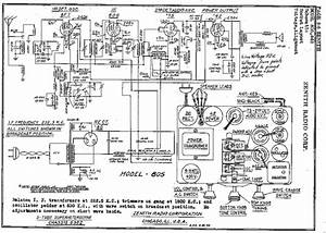 Antique Radio Zenith 805 Schematic Diagram  59068