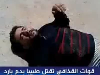 Chilling Video Shows A Libyan Doctor Shot After Refusing