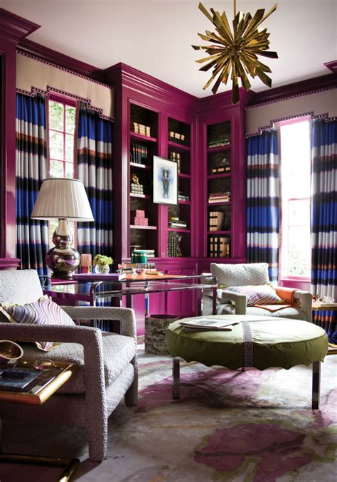 paint colors for home library 10 home interior ideas in radiant orchid home decor ideas