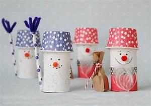 Bastelideen Weihnachten Erwachsene : schneemann aus toilettenpapierrolle basteln ganz einfach ~ Watch28wear.com Haus und Dekorationen