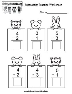 kindergarten math worksheets printable