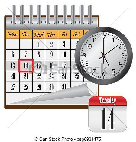 clipart calendario vecteur clipart de calendrier clock calendar 224 mois