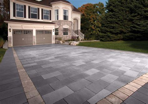 Belpasso Unilock by Belpasso Driveway With Richcliff Accent Photos