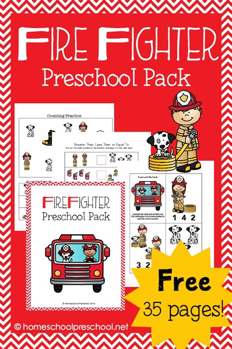 free firefighter preschool pack free homeschool deals 686 | cap 10