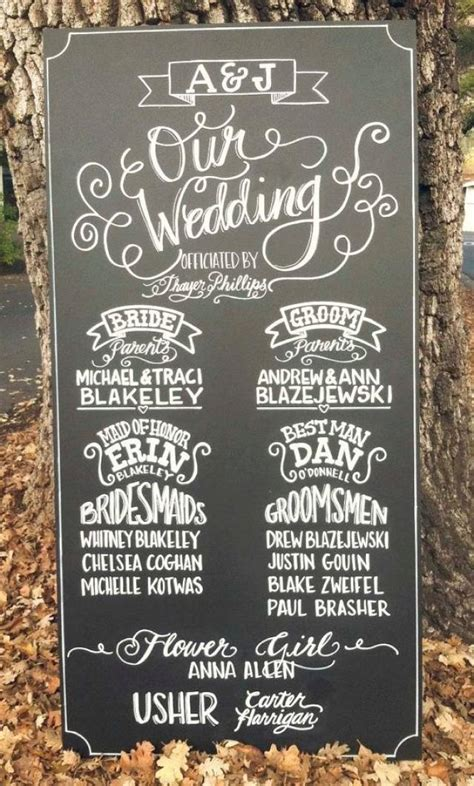 Chalkboard Sign  Wedding  Custom Made Ceremony Program. Emotional Intelligence Signs. Colored Signs. Highway Road Signs Of Stroke. Identify Signs Of Stroke. Square Root Signs. Cheo Signs. Aid Signs. Catcher Signs